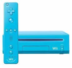 Nintendo Wii Blue Console (Not Gamecube Compatible) [Refurbishe